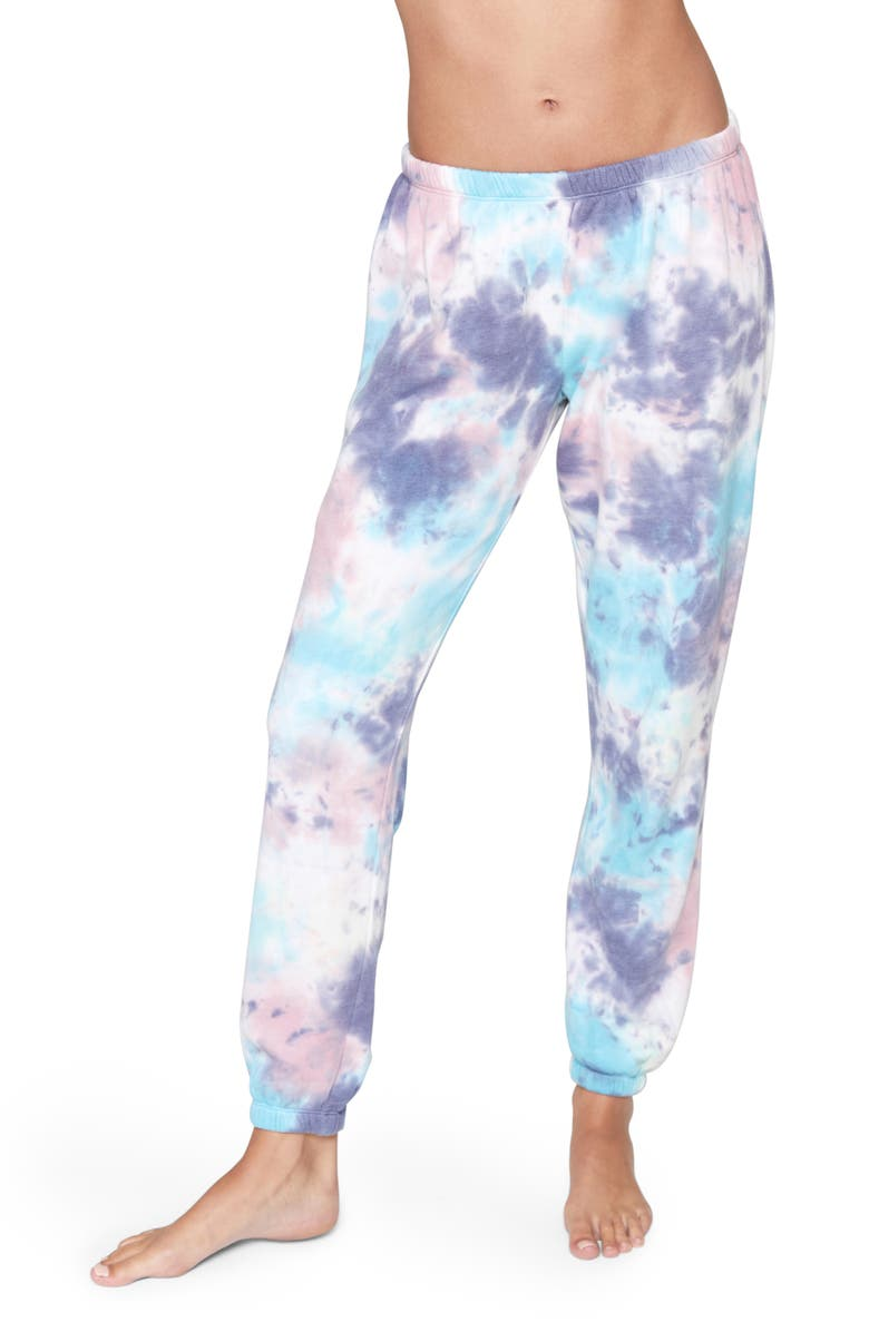 SPIRITUAL GANGSTER Perfect Tie Dye Sweatpants, Main, color, KALEIDOSCOPE TIE DYE
