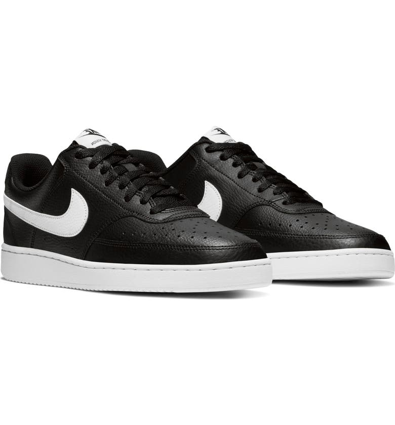 NIKE Court Vision Low Sneaker, Main, color, BLACK/ WHITE