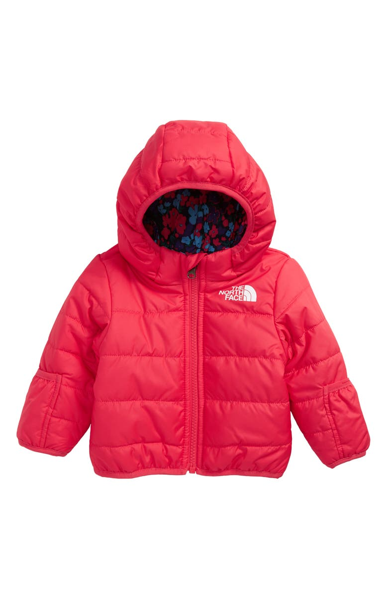 THE NORTH FACE Perrito Jack Reversible Water Repellent Hooded Jacket, Main, color, PARADISE PINK