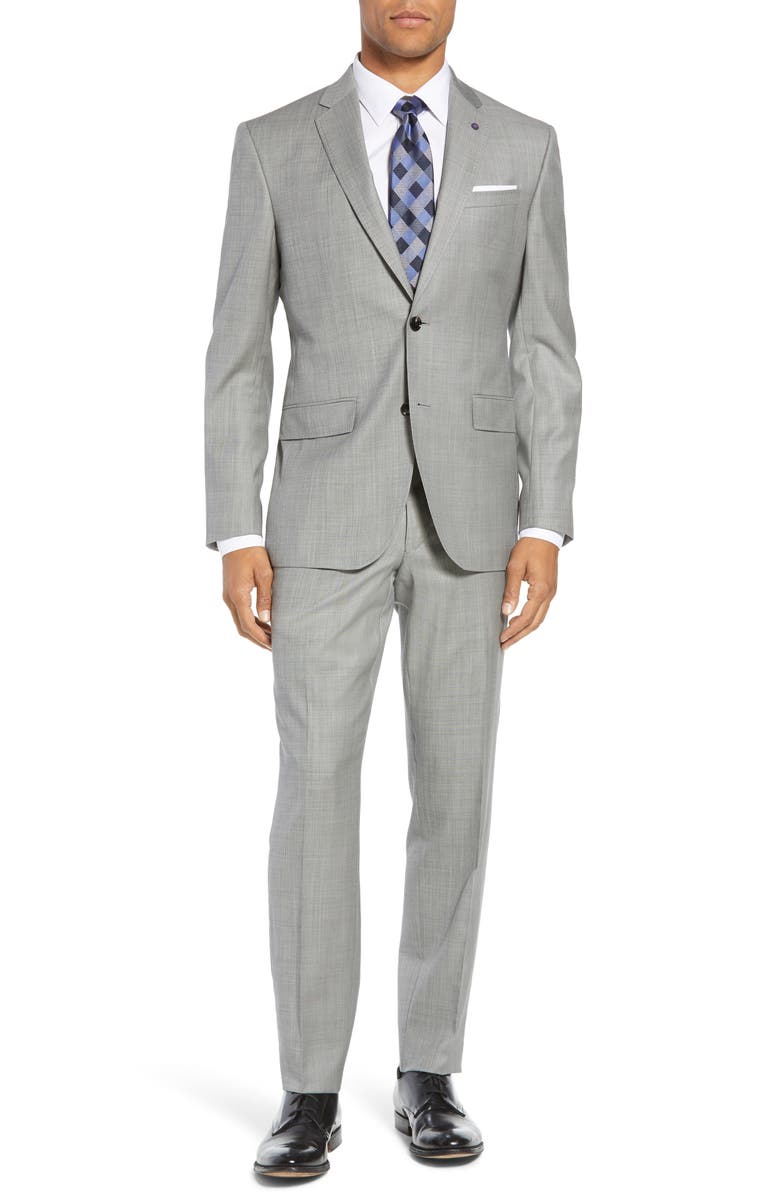 TED BAKER LONDON Jay Trim Fit Solid Wool Suit, Main, color, 020