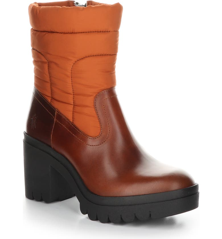 FLY LONDON Tyke Bootie, Main, color, BRICK LEATHER