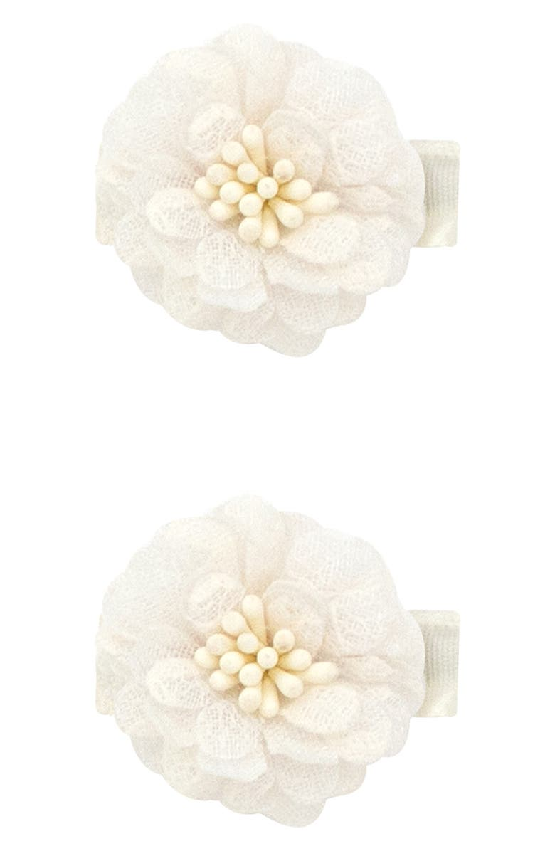PLH BOWS 2-Pack Flower Hair Clips, Main, color, 100