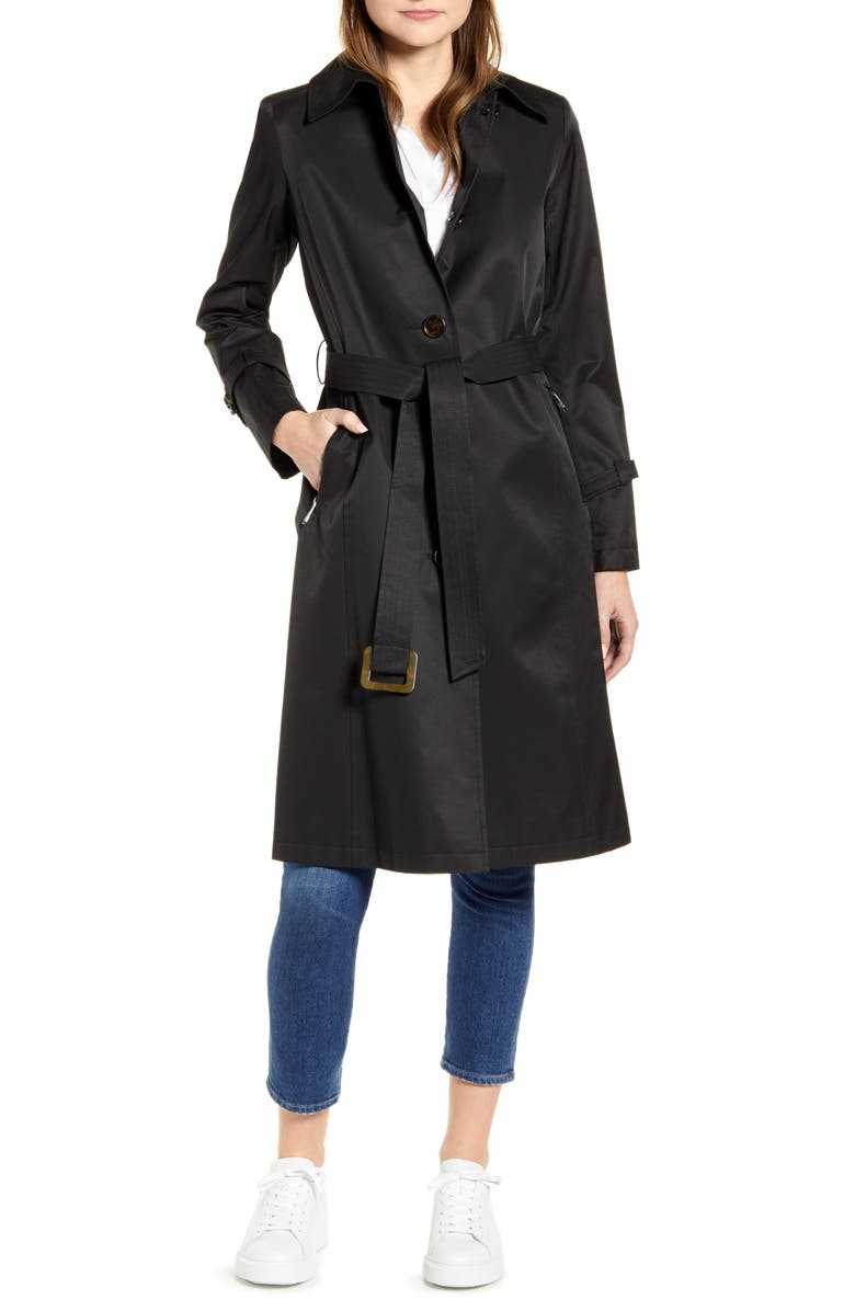 SAM EDELMAN Trench Coat, Main, color, 001