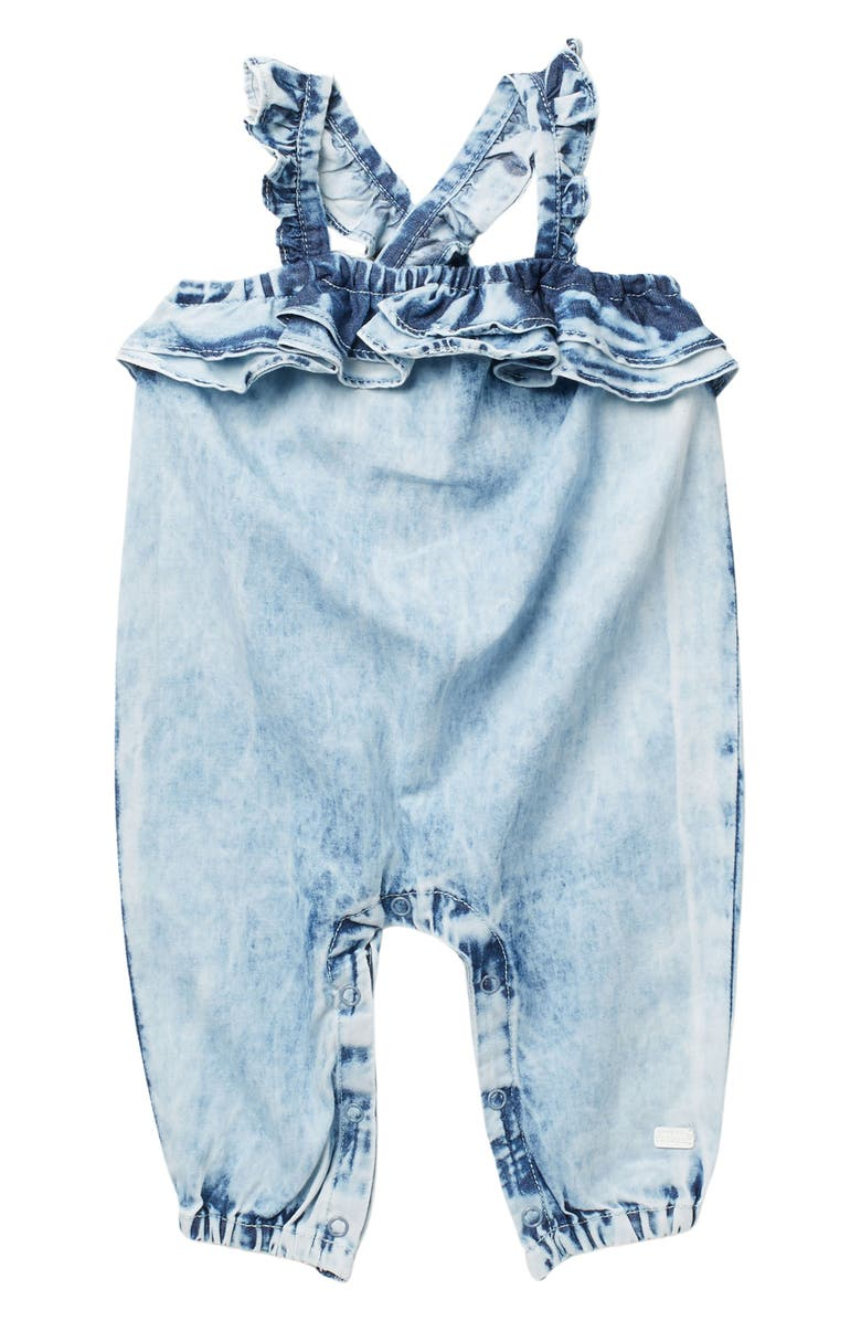 7 FOR ALL MANKIND Ruffle Coverall, Main, color, MARINA BLUE