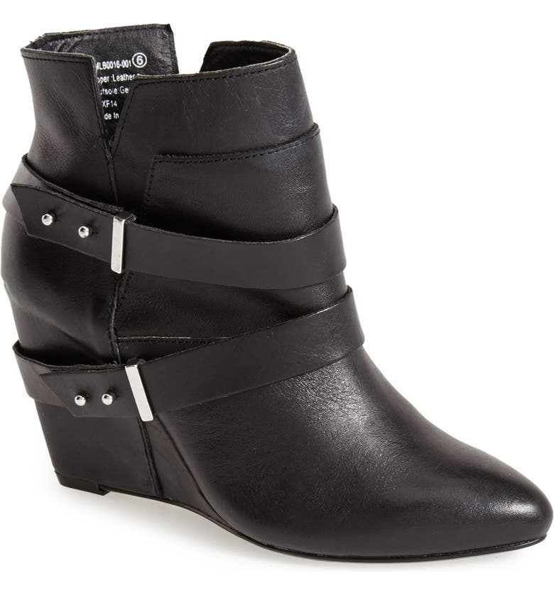 NAUGHTY MONKEY 'Angle Tangle' Pointy Toe Wedge Bootie, Main, color, 001