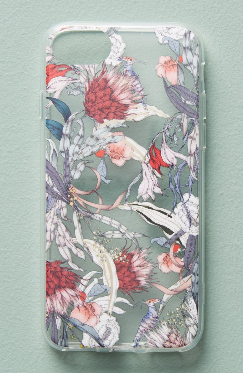ANTHROPOLOGIE HOME Anthropologie Sketched Songbird iPhone 6/6s/7/8 Case, Main, color, 650