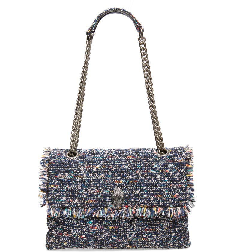 KURT GEIGER LONDON Large Kensington Tweed Shoulder Bag, Main, color, 400