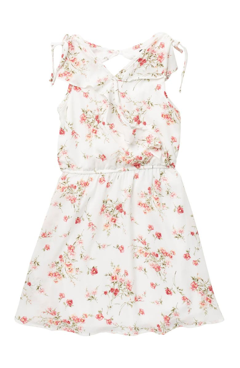 AVA AND YELLY Wrap Front Skater Dress, Main, color, IVORY