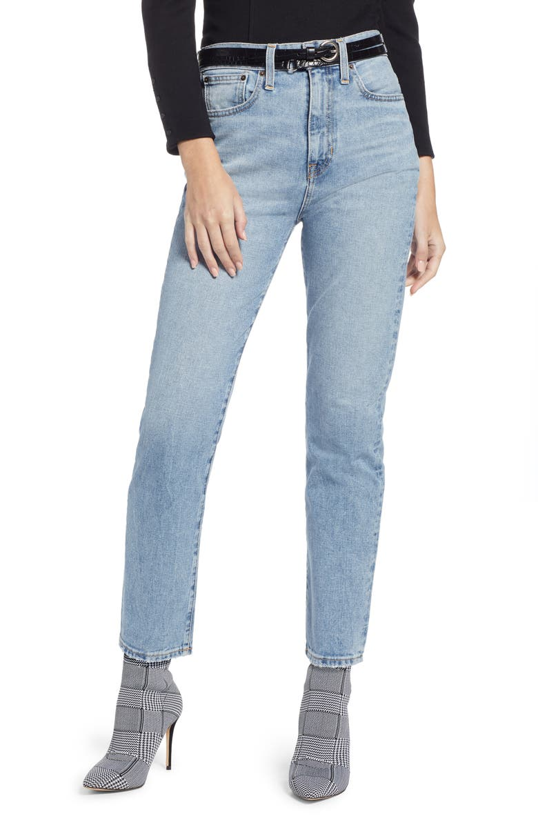 SOMETHING NAVY Ankle Cigarette Jeans, Main, color, 420