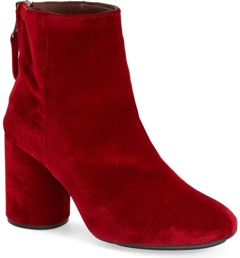 TOPSHOP 'Pinball' Velvet Ankle Boots, Main, color, 600
