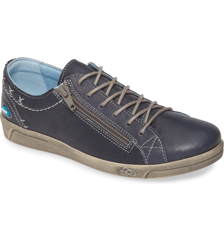 CLOUD Aika Sneaker, Main, color, BLUE BRUSHED SOLE LEATHER
