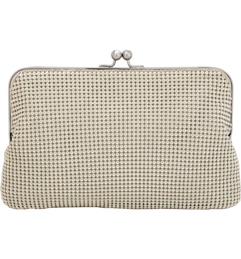 WHITING & DAVIS Mesh Clutch, Main, color, PEARL