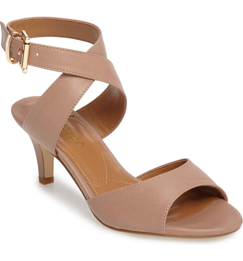 J. RENEÉ 'Soncino' Ankle Strap Sandal, Main, color, NUDE LEATHER