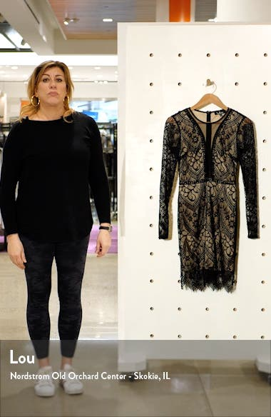 Totally Adored Lace Long Sleeve Dress, sales video thumbnail