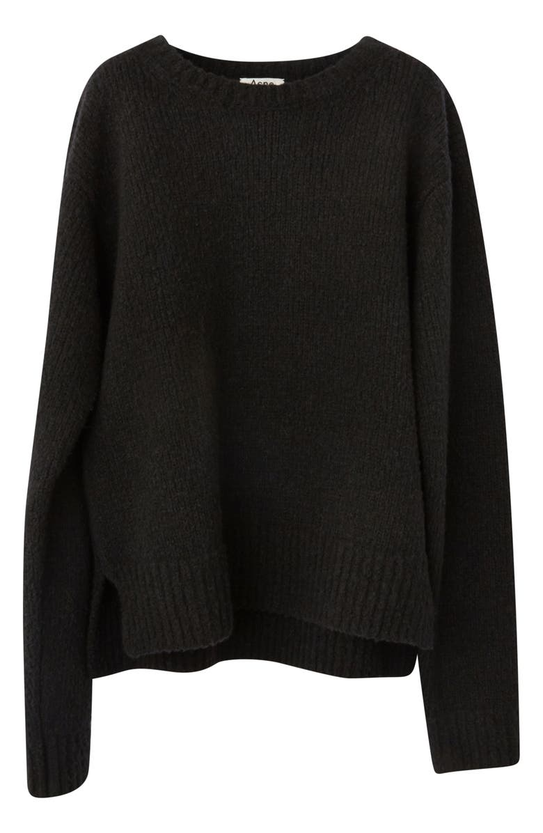 ACNE STUDIOS Kiany Wool & Cashmere Blend Sweater, Main, color, 001