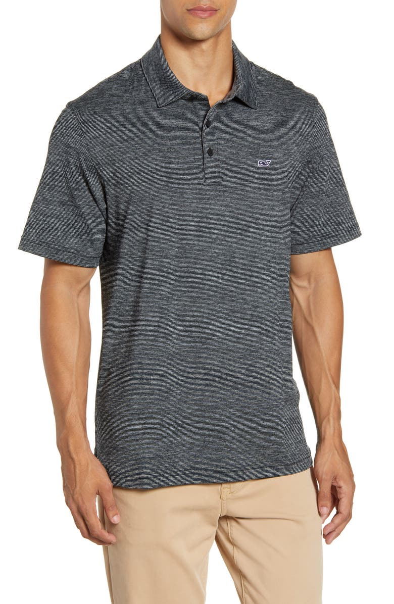 VINEYARD VINES Destin Stripe Sankaty Performance Polo, Main, color, 001