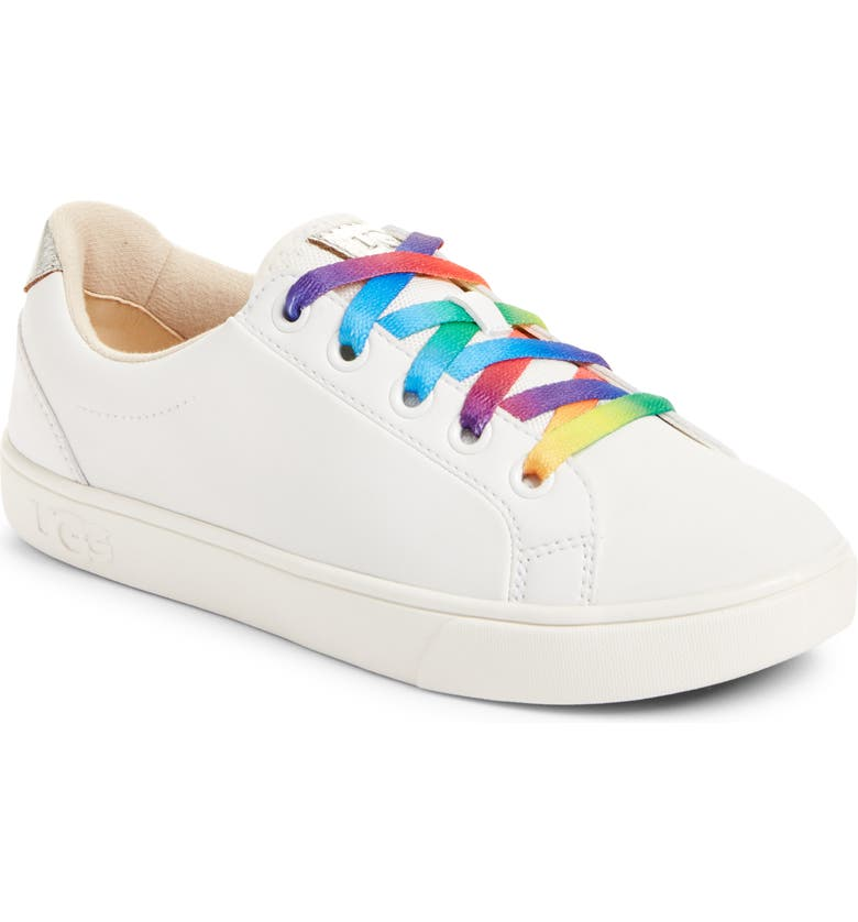UGG<SUP>®</SUP> Zilo Sneaker, Main, color, WHITE LEATHER