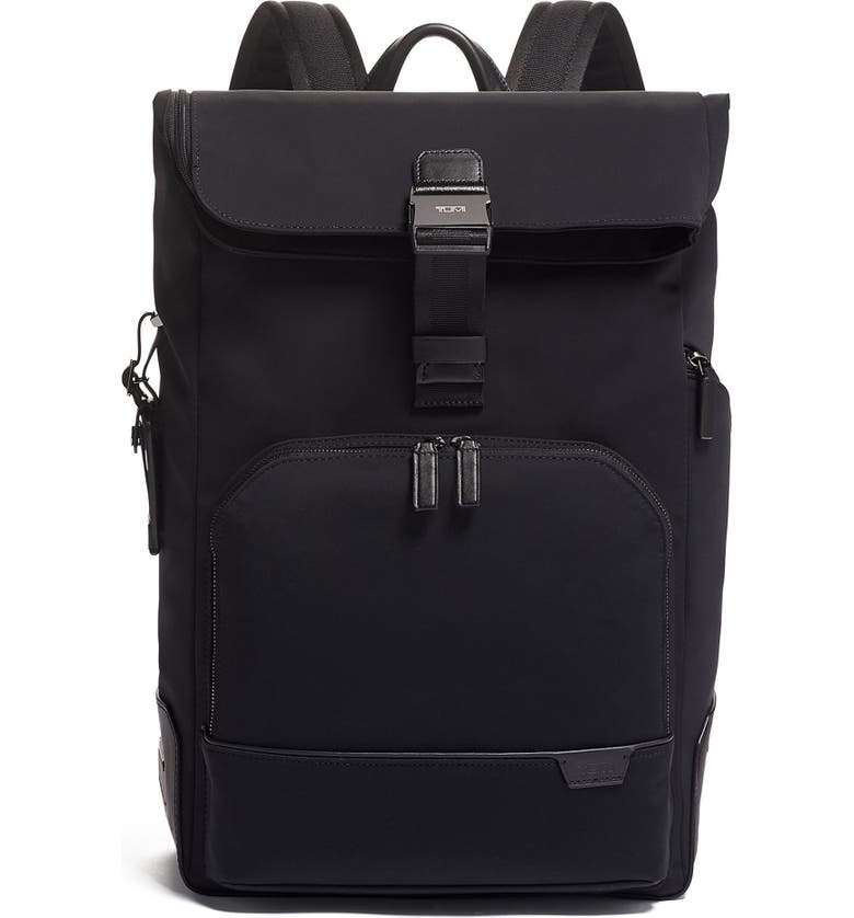 TUMI Osborn Roll Top Backpack, Main, color, BLACK