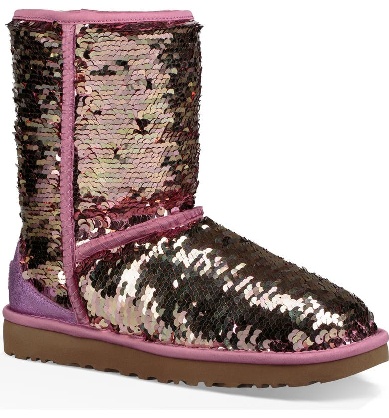 UGG<SUP>®</SUP> Classic Short Sequin Boot, Main, color, 650