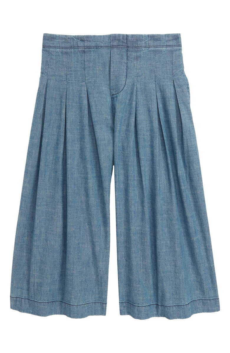STEM Pleated Chambray Pants, Main, color, 420