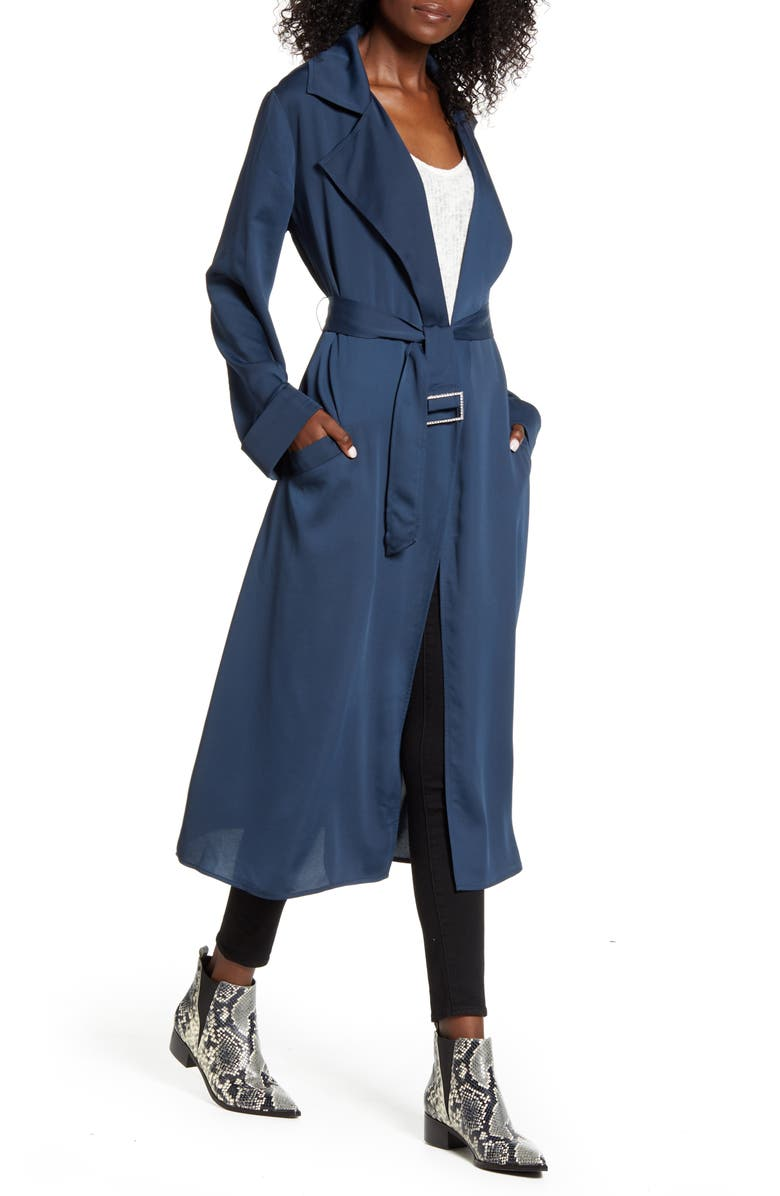 BAND OF GYPSIES Bonjour Trench Coat, Main, color, 400