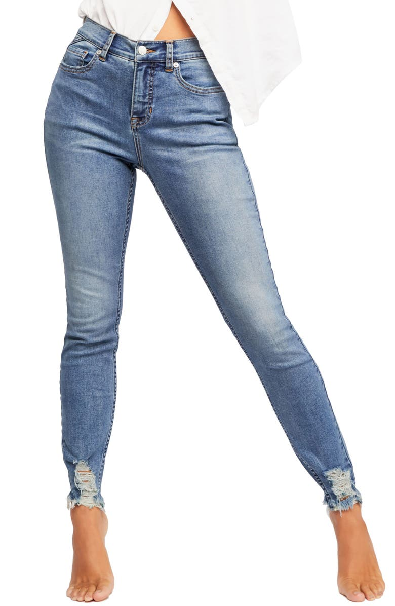 FREE PEOPLE CRVY by Free People Skinny Jeans, Main, color, 400