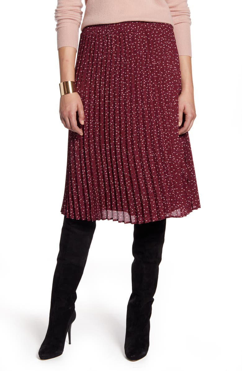 HALOGEN<SUP>®</SUP> Pleated Skirt, Main, color, 938