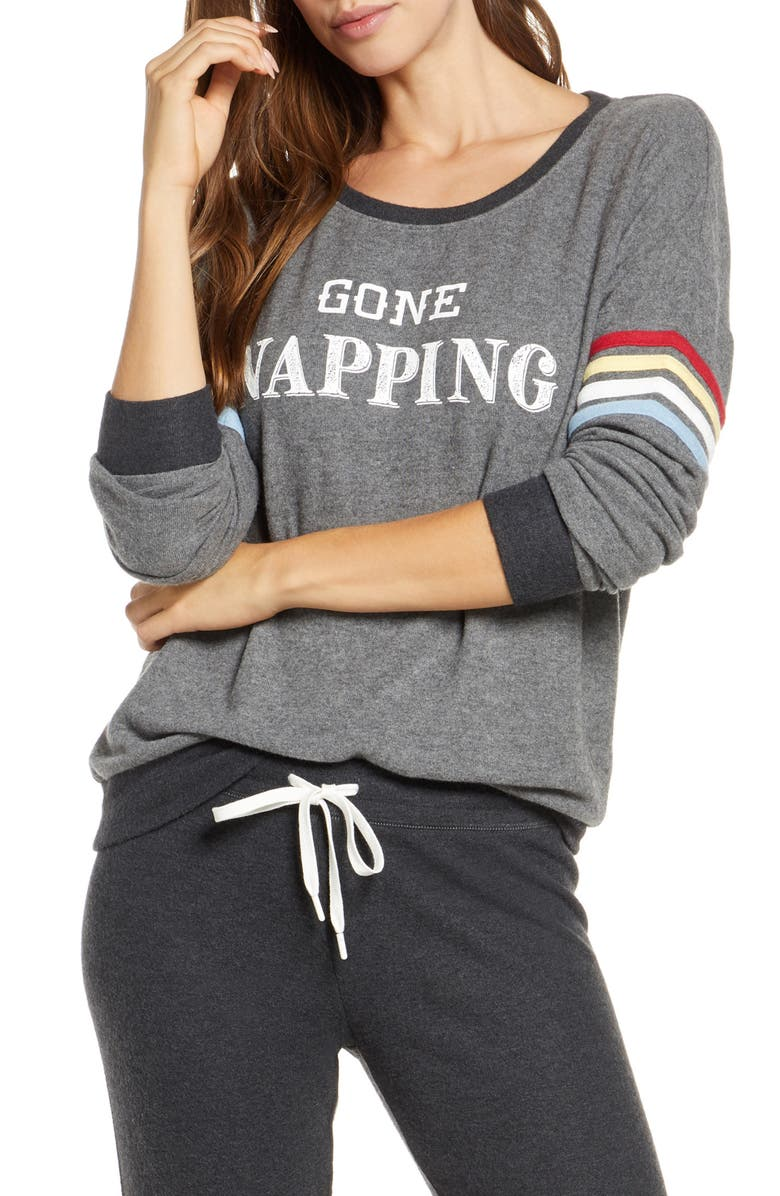 PJ SALVAGE Gone Napping Top, Main, color, 020