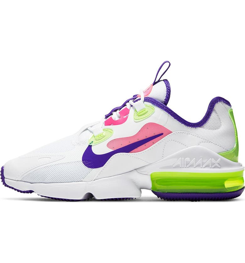 NIKE Air Max Infinity 2 Sneaker, Main, color, 100 WHITE/INDBST