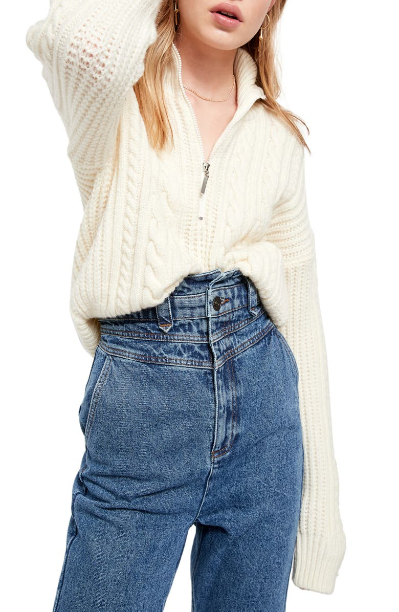 BDG URBAN OUTFITTERS Half-Zip Cable Sweater, Main, color, 900