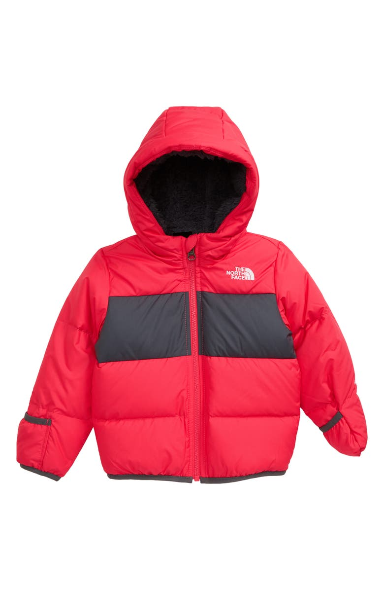 THE NORTH FACE Moondoggy Water Repellent 550 Fill Power Down Jacket, Main, color, PARADISE PINK