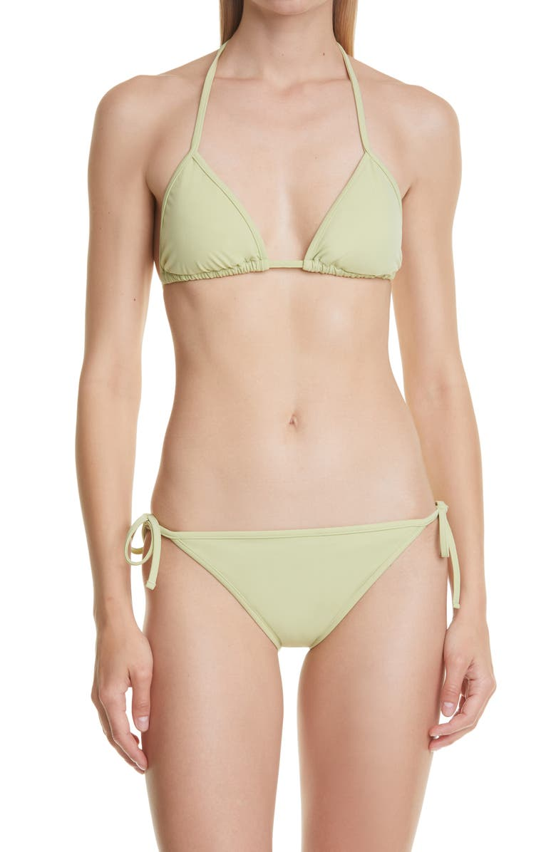 BURBERRY Wtarn Roundel Logo Two-Piece Swimsuit, Main, color, MIST GREEN