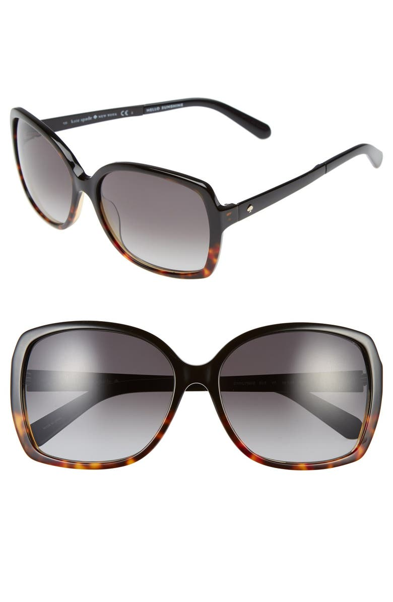 KATE SPADE NEW YORK 'darrilyn' 58mm butterfly sunglasses, Main, color, 002