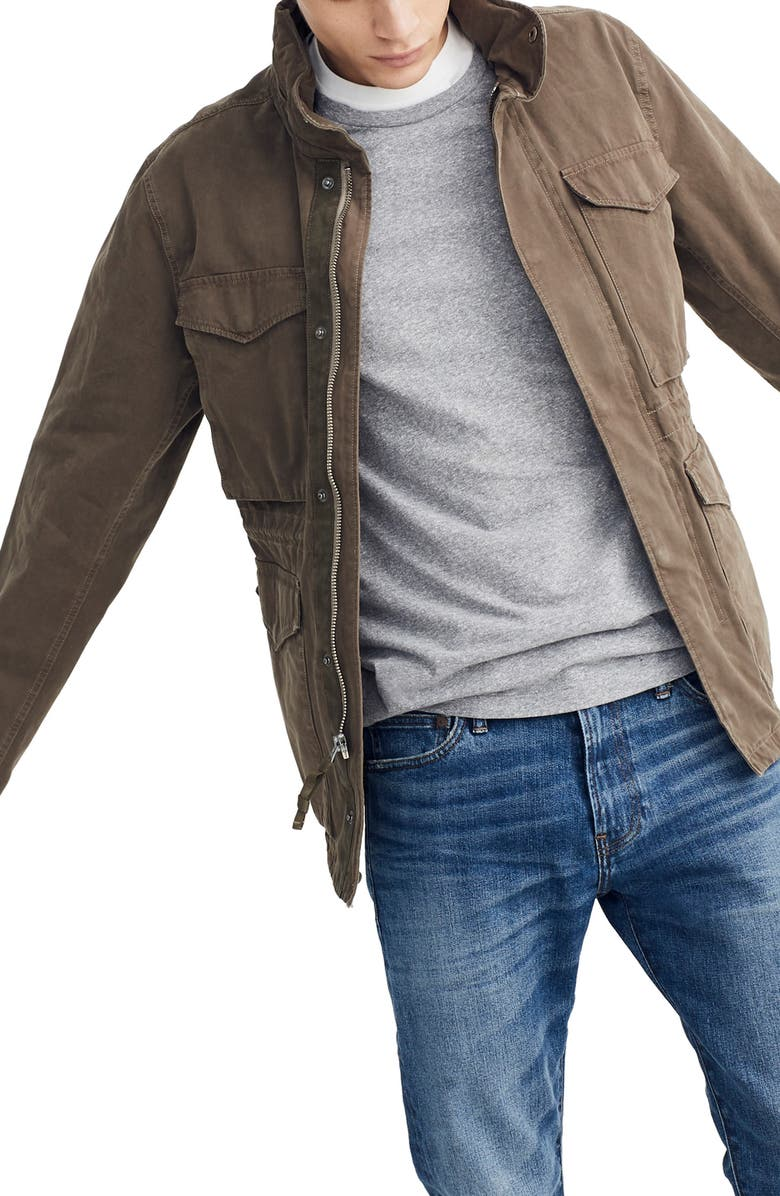 MADEWELL Slim Fit Field Jacket, Main, color, CARGO GREEN