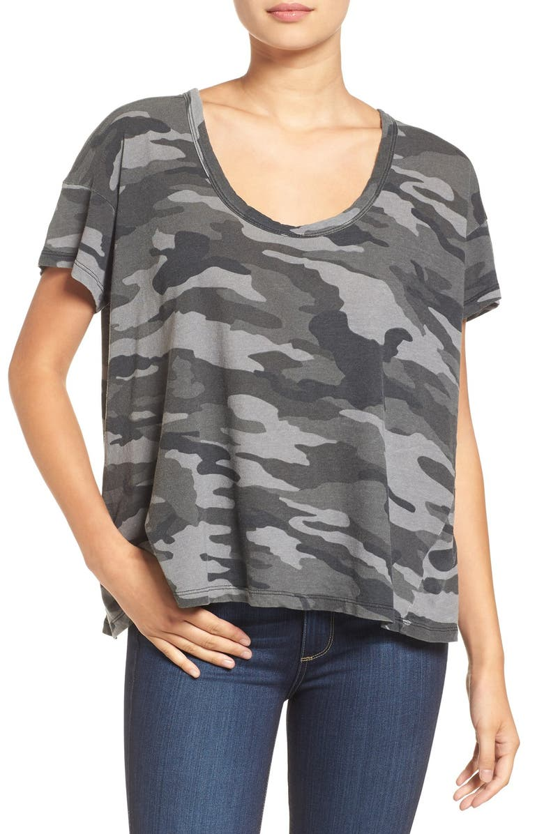 CURRENT/ELLIOTT The Slouchy Scoop Tee, Main, color, 008
