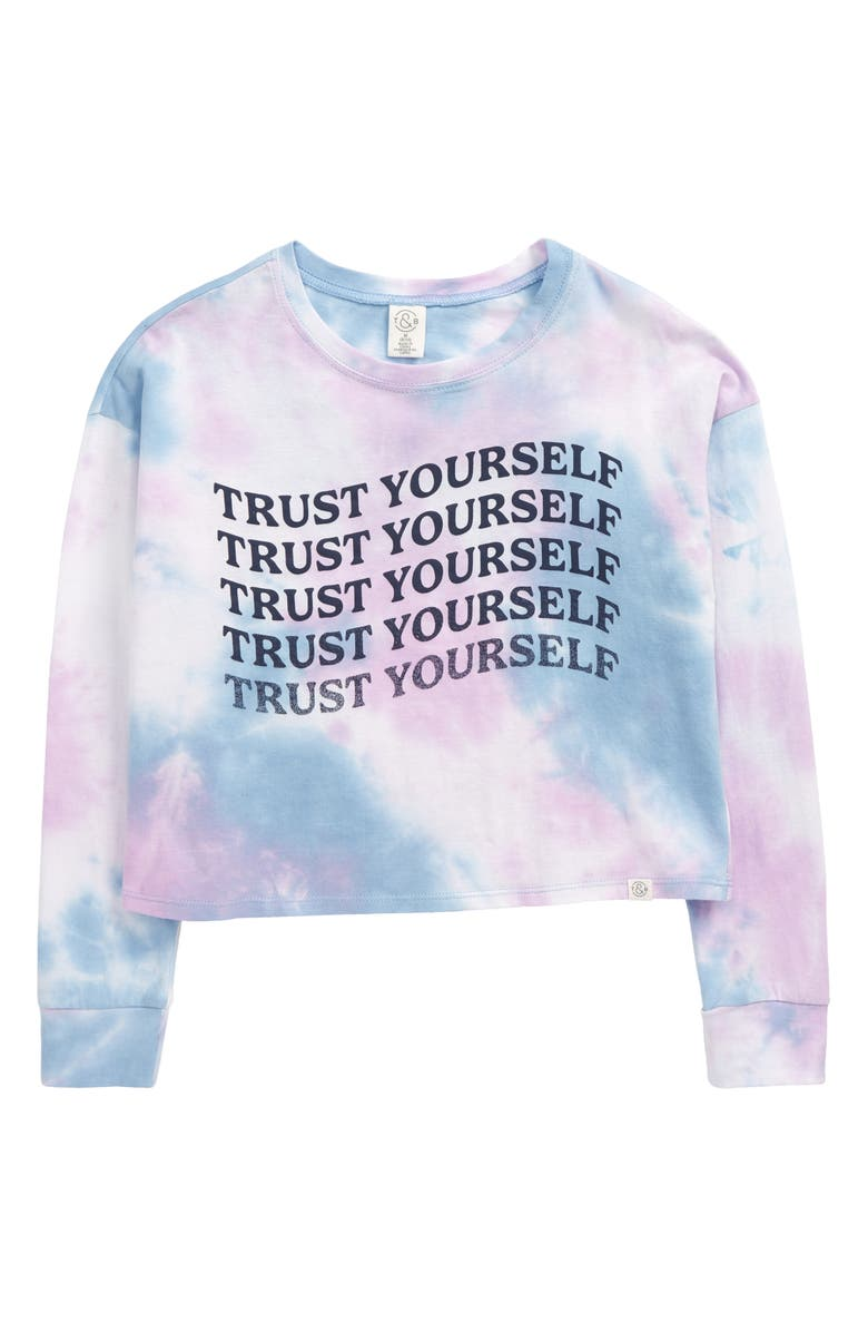 TREASURE & BOND Kids' Long Sleeve T-Shirt, Main, color, PURPLE SECRET TRUST YOURSELF