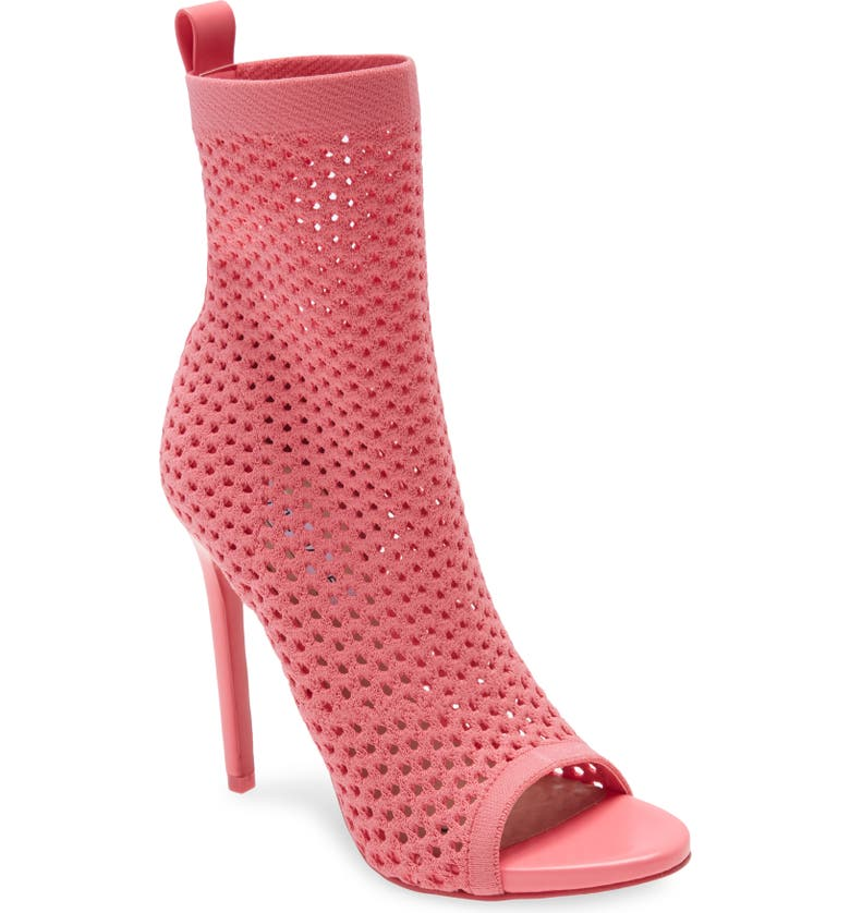 STEVE MADDEN Evelina Open Toe Bootie, Main, color, PINK