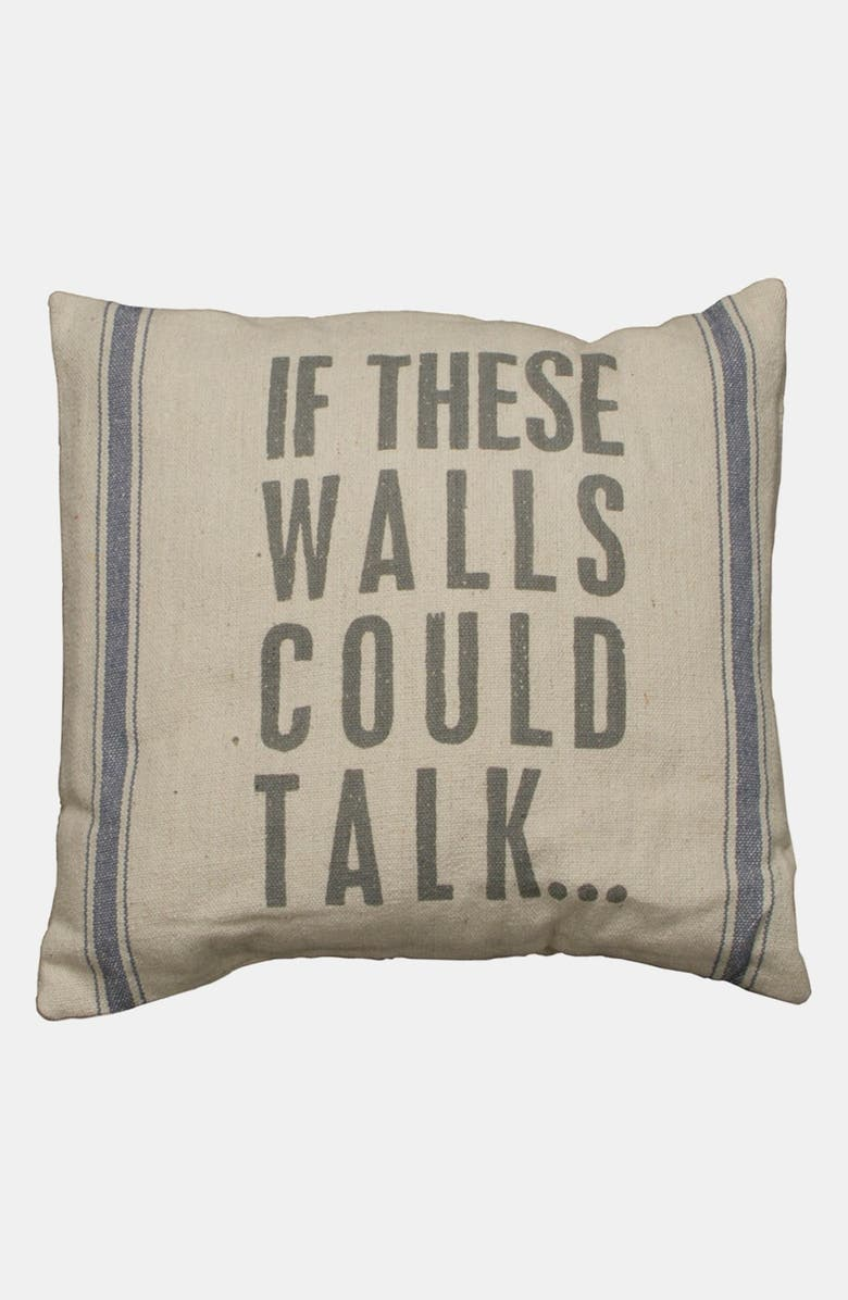 PRIMITIVES BY KATHY 'If These Walls Could Talk' Linen Pillow, Main, color, BEIGE