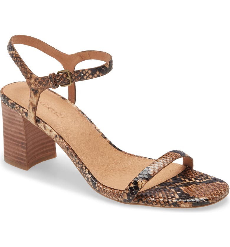 MADEWELL The Hollie Ankle Strap Sandal, Main, color, WOOD ASH MULTI
