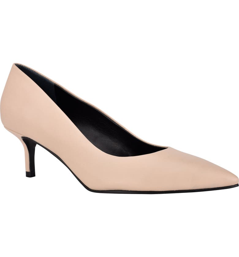 CALVIN KLEIN Danica Pointed Toe Pump, Main, color, LIGHT NATURAL LEATHER