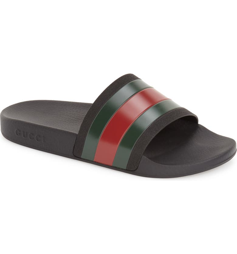 GUCCI '72 Sport Slide, Main, color, BLACK