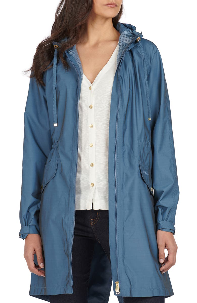 BARBOUR Dryden Waterproof Hooded Parka, Main, color, CHINA BLUE