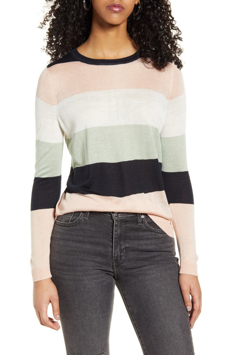ONLY Victory Stripe Pullover, Main, color, 405