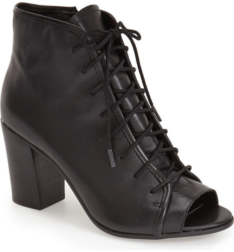 STEVE MADDEN 'Neela' Lace-Up Bootie, Main, color, 001