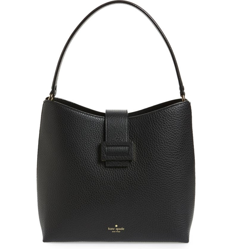 KATE SPADE NEW YORK carlyle street – marea leather hobo, Main, color, BLACK
