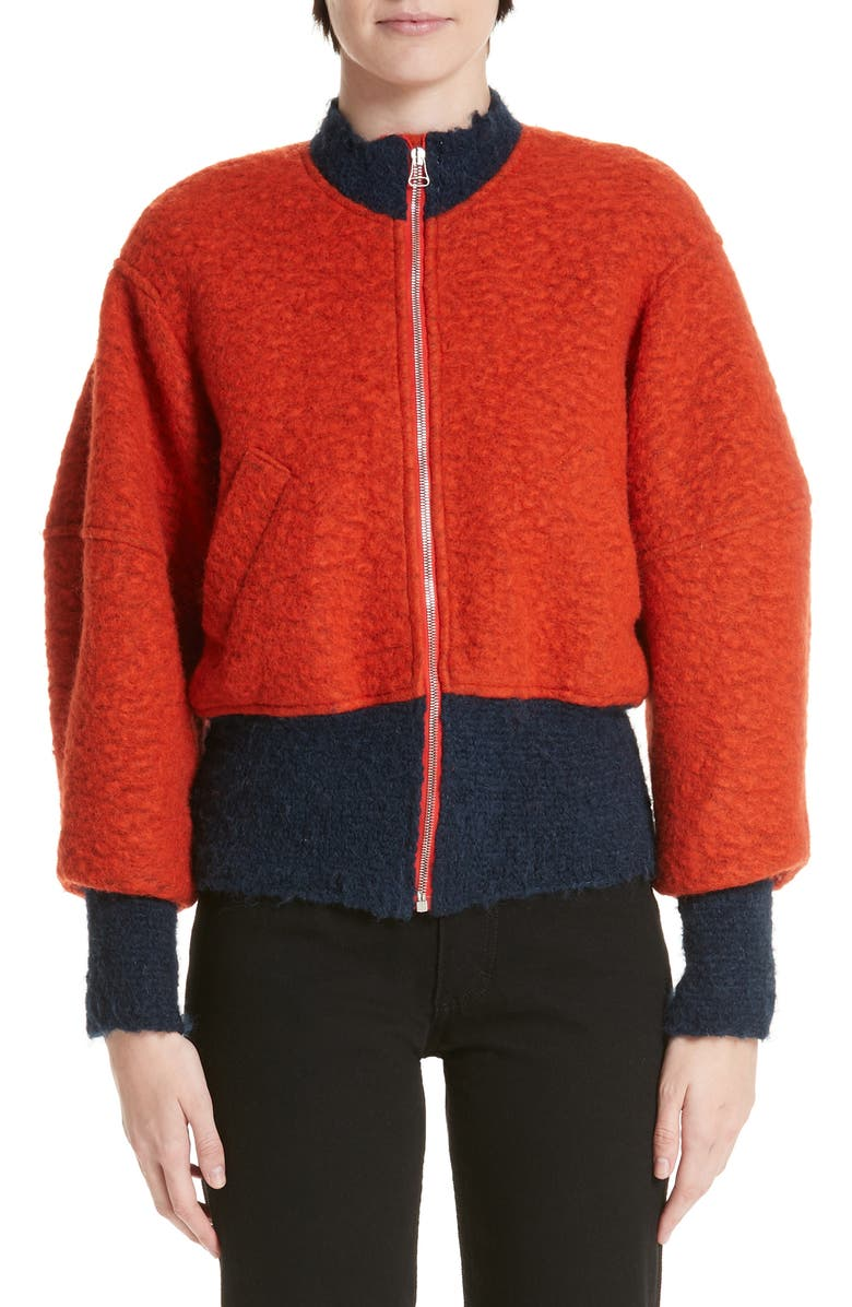 ECKHAUS LATTA Colorblock Bomber Jacket, Main, color, 800