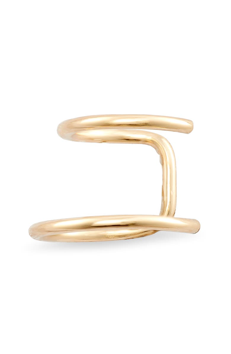ZOË CHICCO Thin Wire Double Ear Cuff, Main, color, GOLD