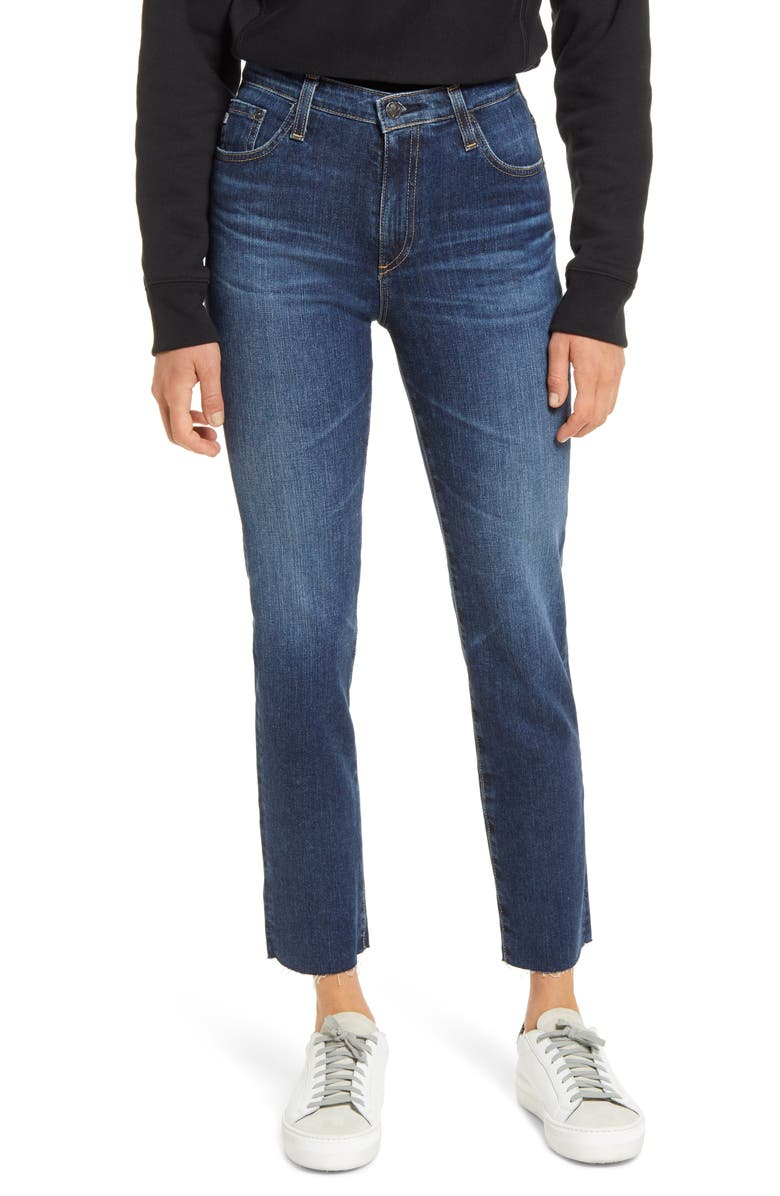 AG The Isabelle  Ankle Straight Leg Jeans, Main, color, 5 YEARS ENTROPY