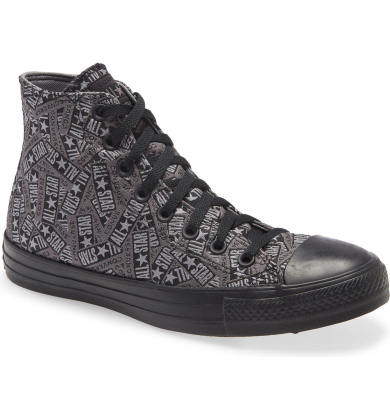 CONVERSE Chuck Taylor<sup>®</sup> All Star<sup>®</sup> Logo Play High Top Sneaker, Main, color, 001