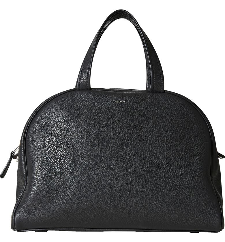 THE ROW Leather Bowling Bag, Main, color, 001